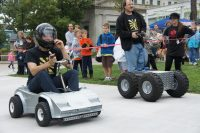 The Power Wheels Racer vs the robot M3Bot in 2012.
